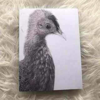 High quality artwork book (black bird) ( small )