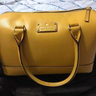 Kate spade mustard yellow handbag