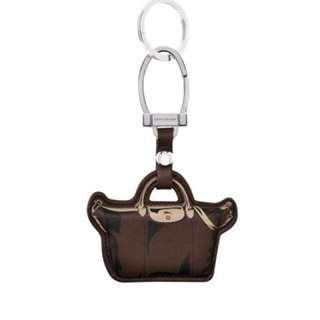 Authentic Longchamp Le Pliage Cuir Keyring