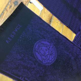 Authentic Blue And Black Versace Scarf