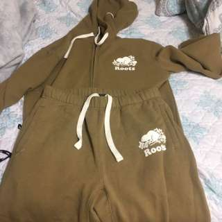 Xs Mens Roots Tan Tracksuit