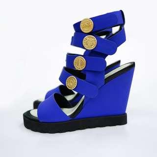 KENO 藍色高跟涼鞋