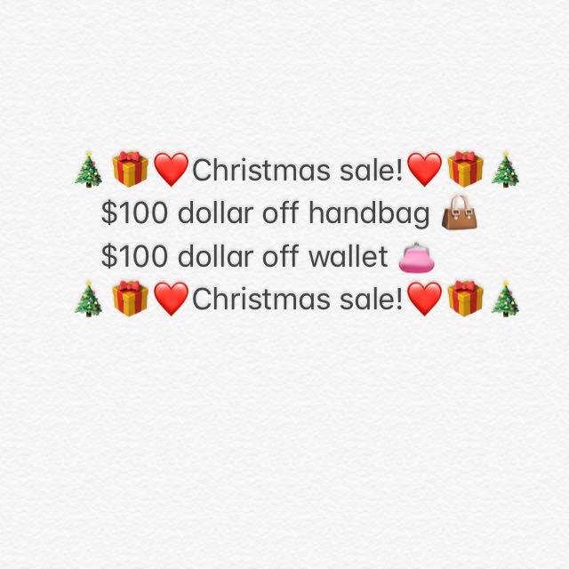 $100 dollar off handbag and wallet!