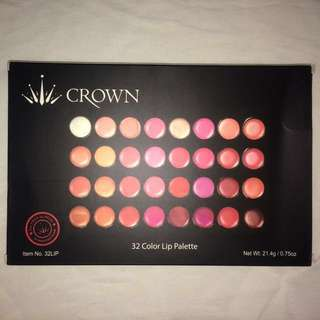 CROWN 32 Colour Lip Palette