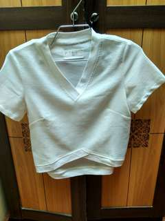 Xsml crop white tees