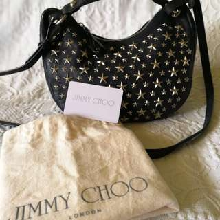 Authentic Jimmy Choo Studded Stellar learner bag