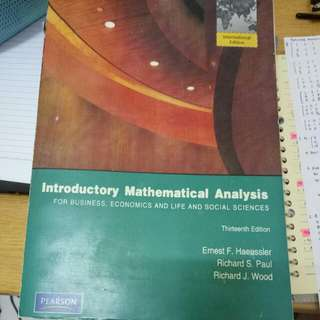 Introductory mathematical analysis 13th edition
