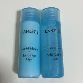 Laneige Essential Balancing Emulsion and Skin Refiner (light)
