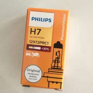 Philips PremiumVision H7 Car Light (for cars and Motorcycle)