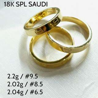 18K SAUDI GOLD CARTIER COUPLE RING
