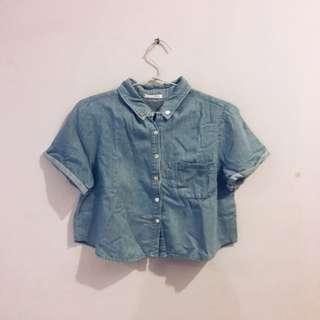 Unbranded Olshop - Denim Short Sleeved Shirt