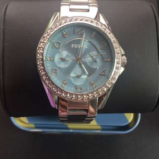 Fossil Watch Stainless Steel Blue