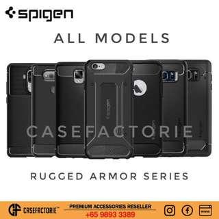 Spigen Rugged Armor Case iPhone X Note 8 Google Pixel 2 XL