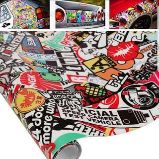 150 * 50cm      Graffiti Car Sticker Bomb Wrap Sheet Decal Sticker