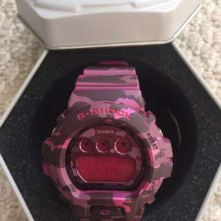ATUTHENTIC G-Shock PINK CAMO WATCH