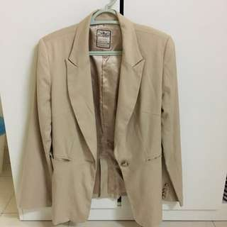 Blazer In Nude Colour