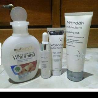 Wardah White Secret Series+Mustika Ratu 2in1 Face Cleaner Free Ongkir Jabodetabek