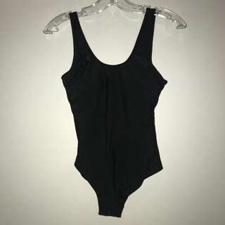 Low cut back one piece swimsuit XS-S