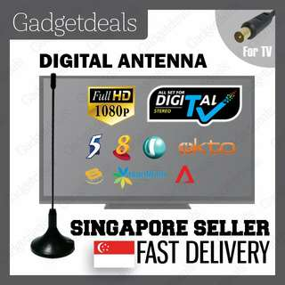 DIGITAL ANTENNA FOR DVB - T2 DVB-T2 DIGITAL READY HD TV WITH 3 METER CABLE AND MAGNETIC BASE