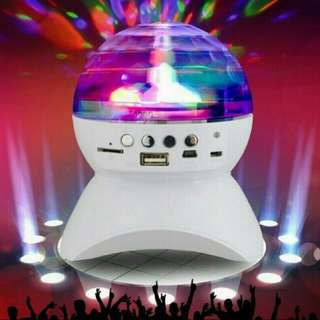 Mini Rotating Disco Light With Bluetooth Function