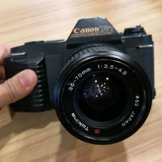 Canon T50 Tokina lens 35-70mm 3.5-4.8