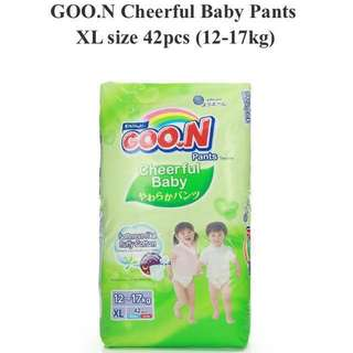 Goon cheerful baby pant XL diapers