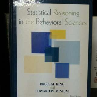 STATISTICAL REASONING IN THE BEHAVIORAL SCIENCES ( Hardcover)