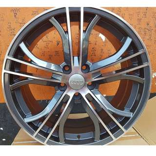 18 inch SPORT RIM AUDI A4 A5 A6 A7 GREY MACHINED
