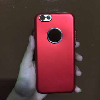 Red case wth silver line iPhone 6