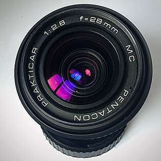 Pentacon Prakticar MC 28mm f2.8 Lens