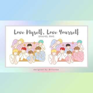 (CLOSED)BTS LOVE MYSELF,LOVE YOURSELF BADGES BY VICSTAE