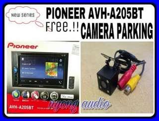 Pioneer avh a 205 bt  plus kamera parkir