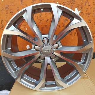 18 inch SPORT RIM AUDI 5 DOUBLE SPOKE ALLOY WHEELS