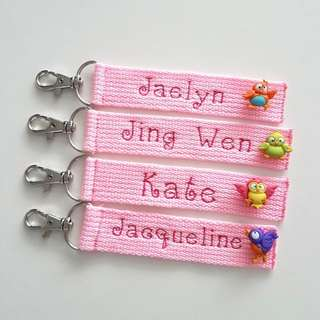 Personalized Key Fob*Keychain*Clip*Christmas Gifts*Birthday Favors*