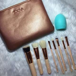 8 Pieces Zoeva Brushes and Egg Brush Cleaner