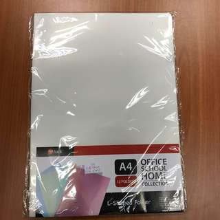 L shaped folder A4 12 folders in each pack