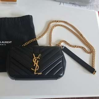YSL Saint Laurent Mini Monogram Crossbody Gold