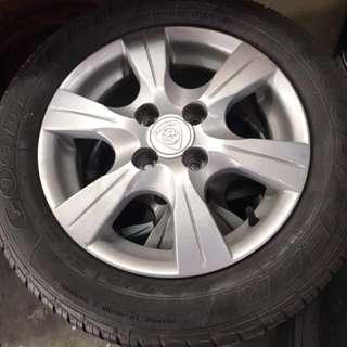 Proton Saga FLX rim with tyre 90%
