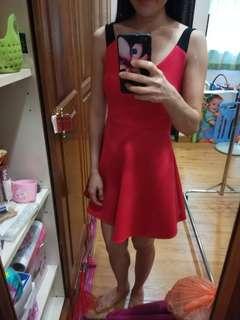 F21 coral pink neoprene skater dress #midjan55