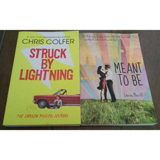 Struck by Lightning and Meant to be BOOK SALE BUNDLE