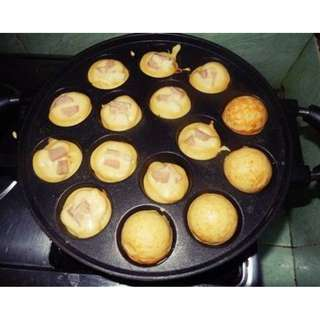 Snack Maker Takoyaki Poffetjes Cetakan Kue 15 dan 19 Lubang