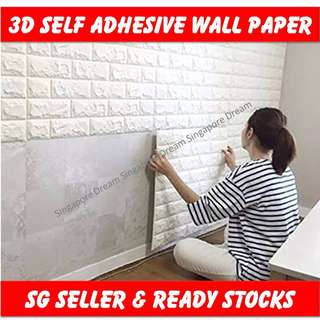 3D Wall Paper Stickers / Self-adhesive Wallpaper