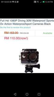 #fashion 100  Full HD ( 1080p) action sports cam* normal price Rm140; now Rm70*