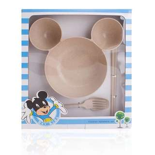 Mickey Mouse Food Bowl Set For Baby Toddler Kids
