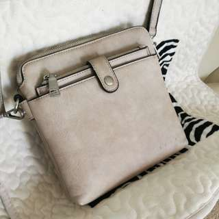 Leather Nude sling bag