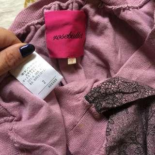 日牌Rosebullet二手9成新紫色V領連身裙