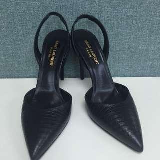 Stain Lauren Balck sling back heels Sz 37.5
