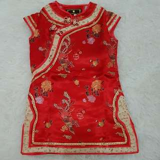 Dress cheongsam anak umur 3thn