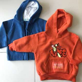 2 hooded jackets/ sweater