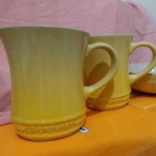 Le Creuset 400ml 水杯黃色一隻